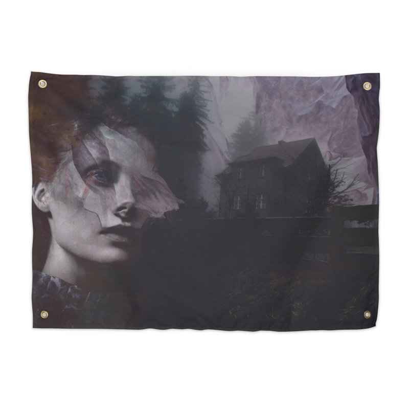 Ghost of Saturday Home Tapestry by George Ravenkult Cotronis