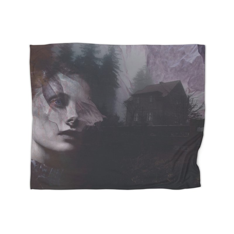Ghost of Saturday Home Fleece Blanket Blanket by George Ravenkult Cotronis