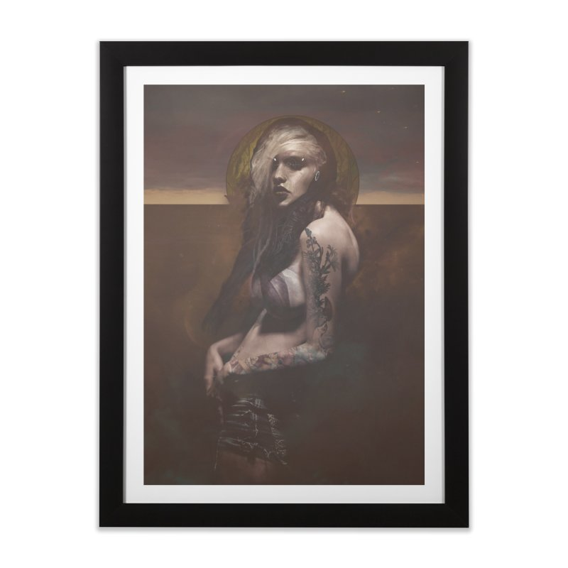 Lustful Beasts in Framed Fine Art Print Black by George Ravenkult Cotronis