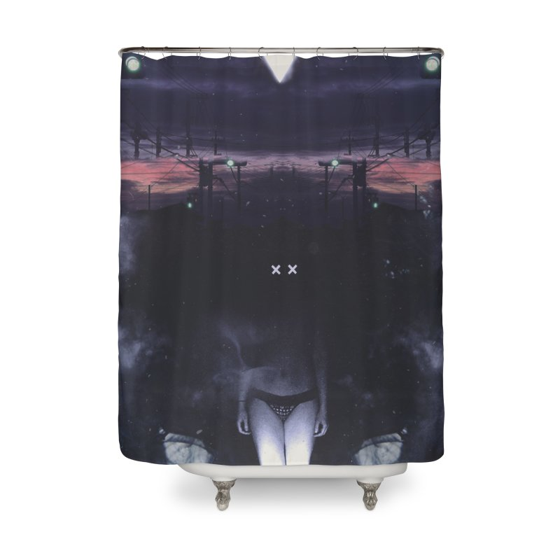 The XX in Shower Curtain by George Ravenkult Cotronis