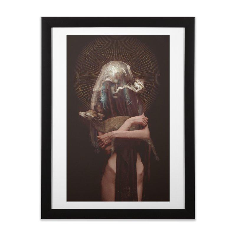 Dark Crystal Home Framed Fine Art Print by George Ravenkult Cotronis