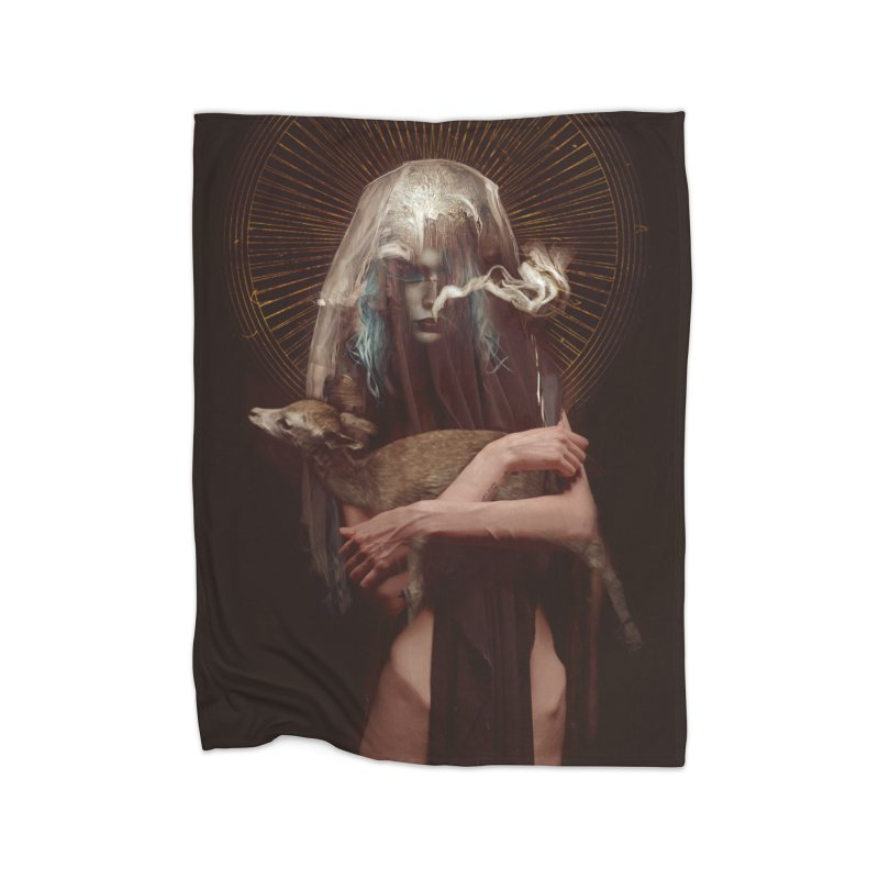 Dark Crystal Home Fleece Blanket Blanket by George Ravenkult Cotronis