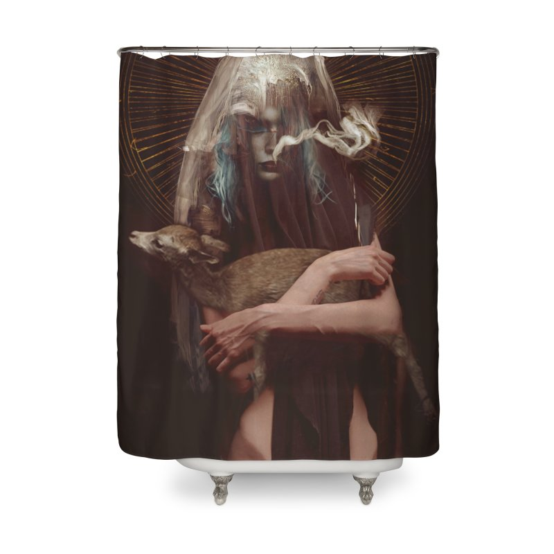 Dark Crystal Home Shower Curtain by George Ravenkult Cotronis