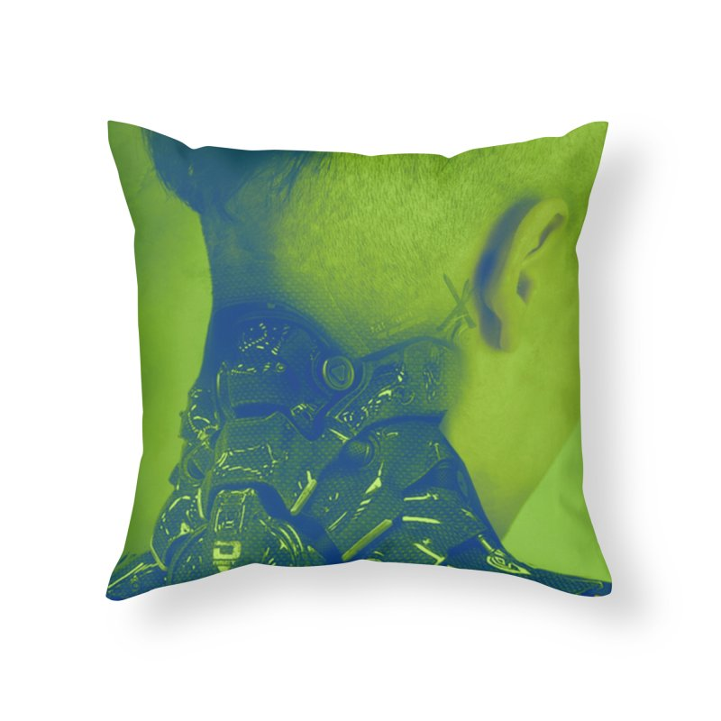 High Tech Low Life in Throw Pillow by George Ravenkult Cotronis