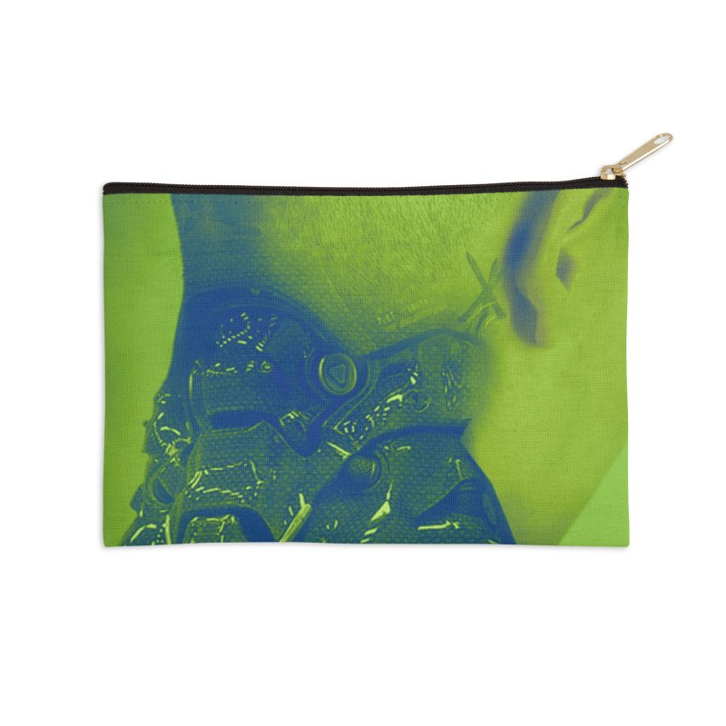 High Tech Low Life Accessories Zip Pouch by George Ravenkult Cotronis