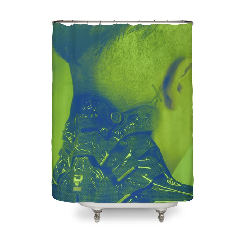 High Tech Low Life Home Shower Curtain by George Ravenkult Cotronis