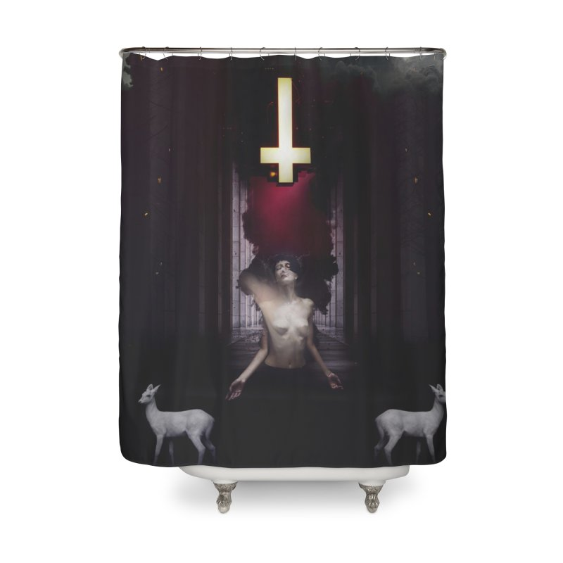 Maw Home Shower Curtain by George Ravenkult Cotronis