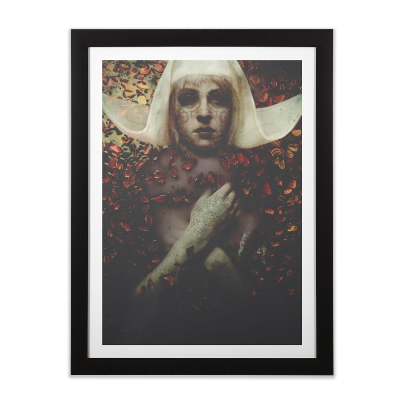 Dark Horse Home Framed Fine Art Print by George Ravenkult Cotronis