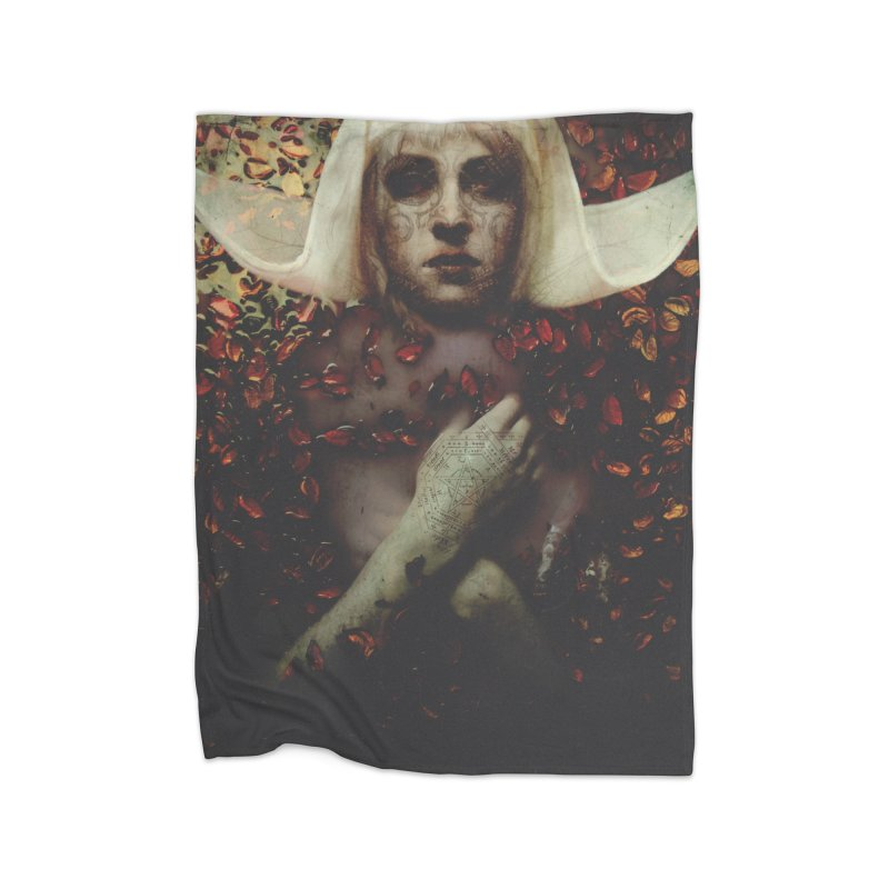 Dark Horse Home Fleece Blanket Blanket by George Ravenkult Cotronis