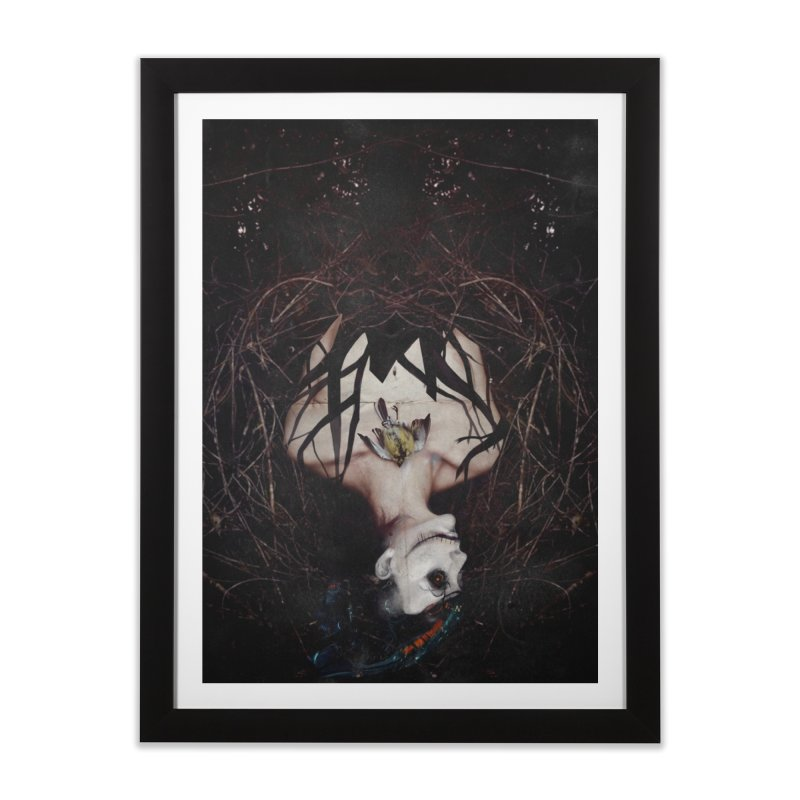 Aghast in Framed Fine Art Print Black by George Ravenkult Cotronis