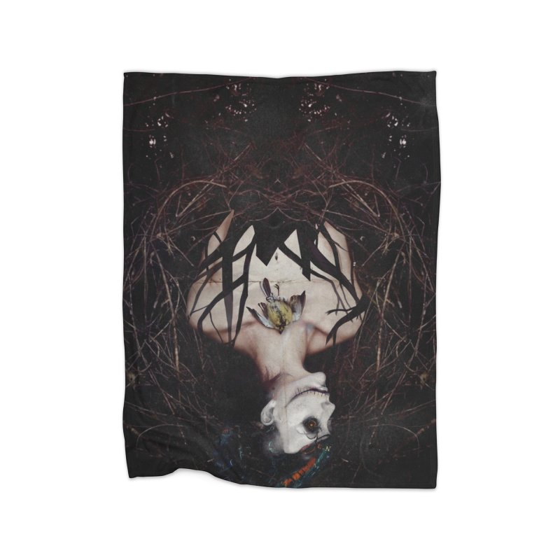 Aghast Home Fleece Blanket Blanket by George Ravenkult Cotronis
