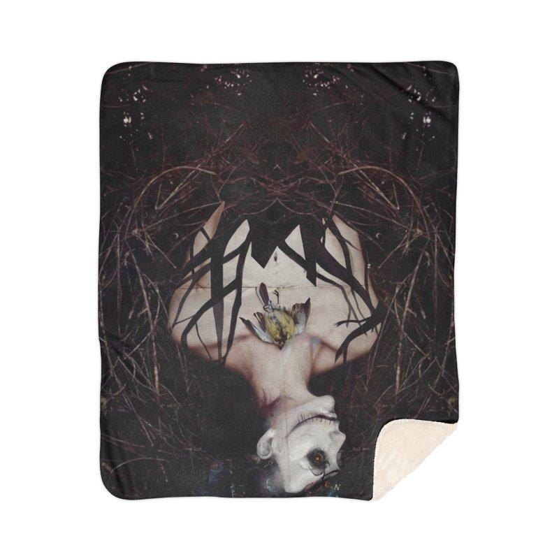 Aghast Home Blanket by George Ravenkult Cotronis