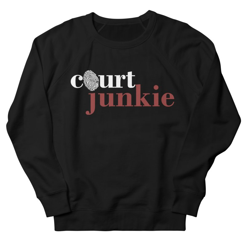 Men's Court Junkie Logo Men's French Terry Sweatshirt by Court Junkie Store