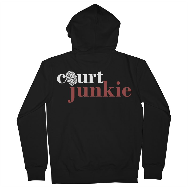 Women's Court Junkie Logo Women's Zip-Up Hoody by Court Junkie Store