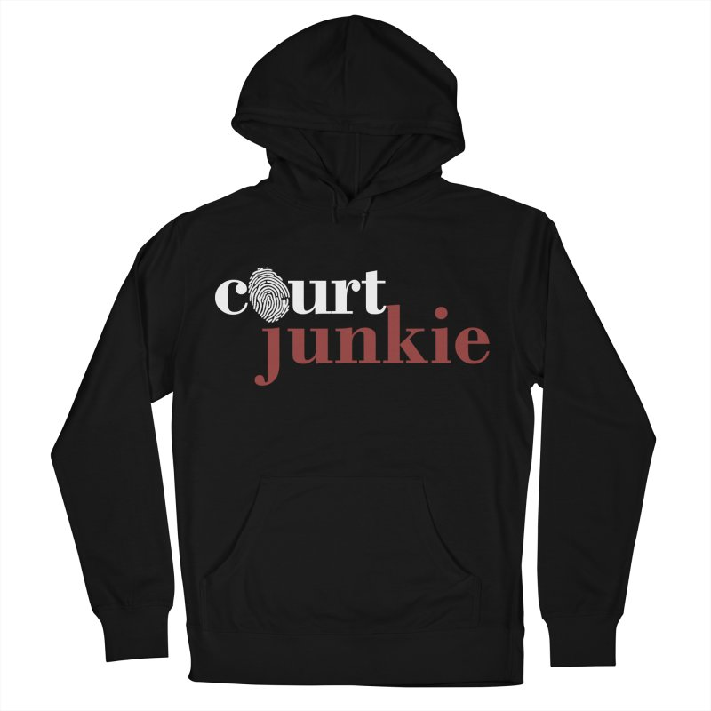 Women's Court Junkie Logo in Women's Pullover Hoody Black by Court Junkie Store