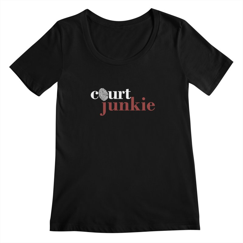 Women's Court Junkie Logo Women's Regular Scoop Neck by Court Junkie Store
