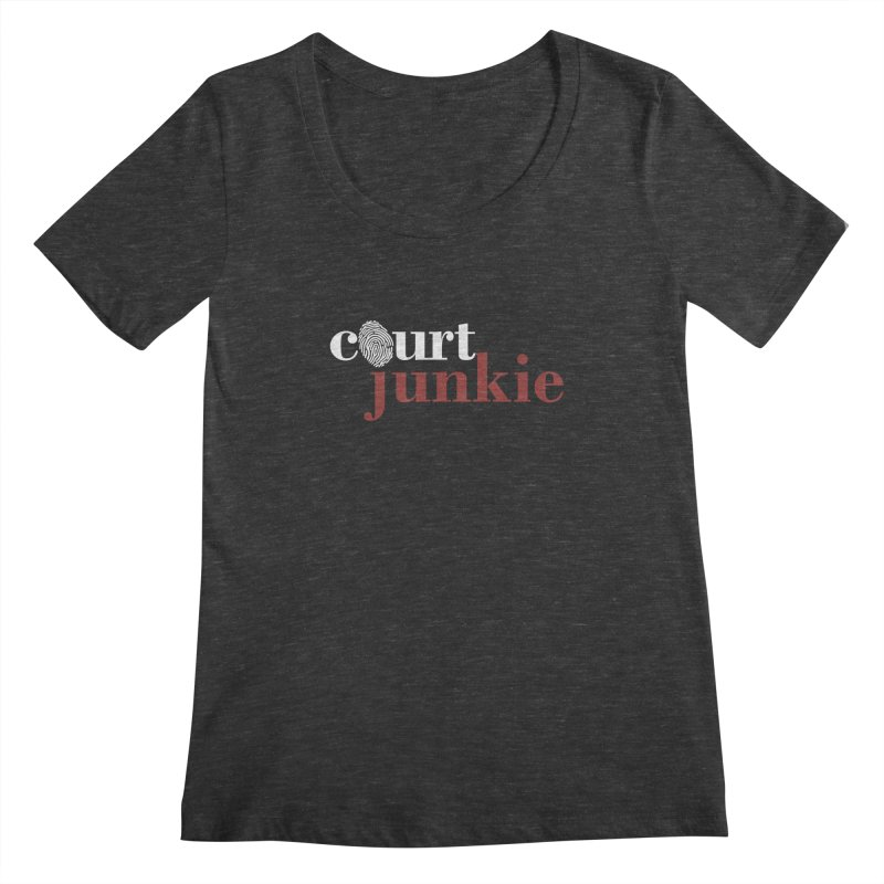 Women's Court Junkie Logo Women's Scoopneck by Court Junkie Store