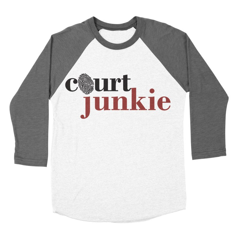 Men's Court Junkie Logo Men's Baseball Triblend Longsleeve T-Shirt by Court Junkie Store