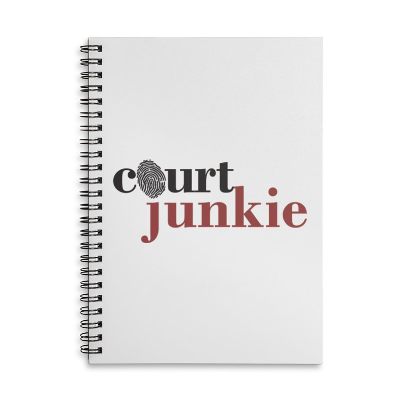Logo on White Accessories Lined Spiral Notebook by Court Junkie Store