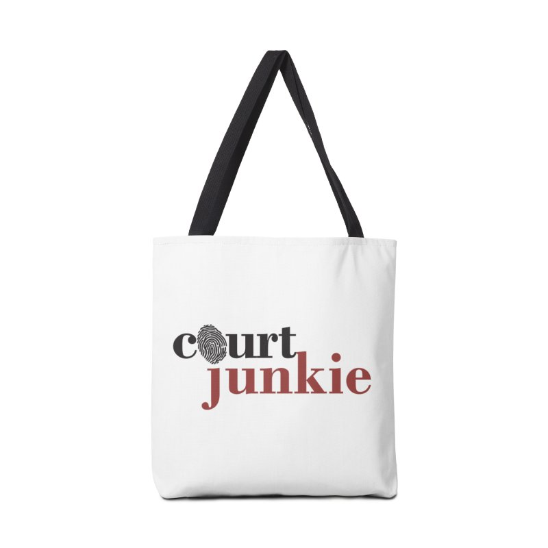 Logo on White Accessories Bag by Court Junkie Store