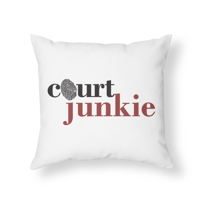 Logo on White Home Throw Pillow by Court Junkie Store