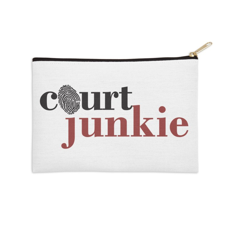 Logo on White Accessories Zip Pouch by Court Junkie Store