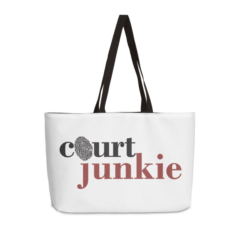 Logo on White Accessories Weekender Bag Bag by Court Junkie Store