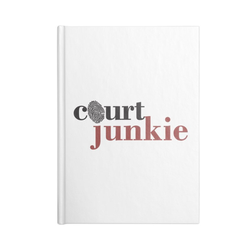Logo on White Accessories Blank Journal Notebook by Court Junkie Store