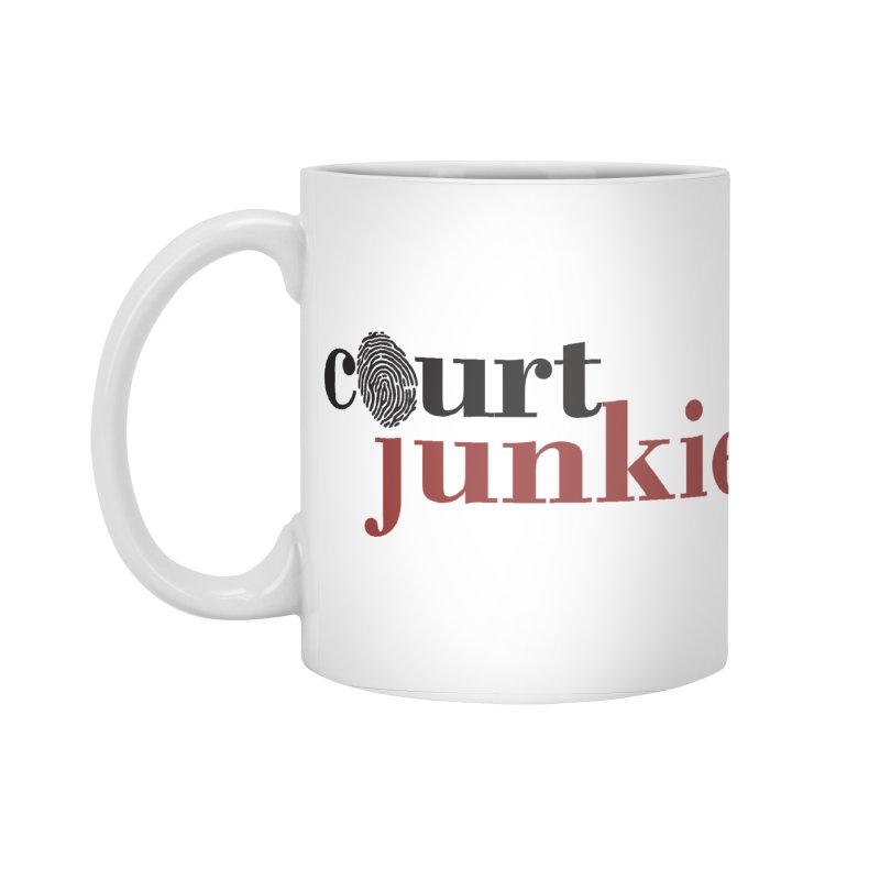 Logo on White Accessories Standard Mug by Court Junkie Store