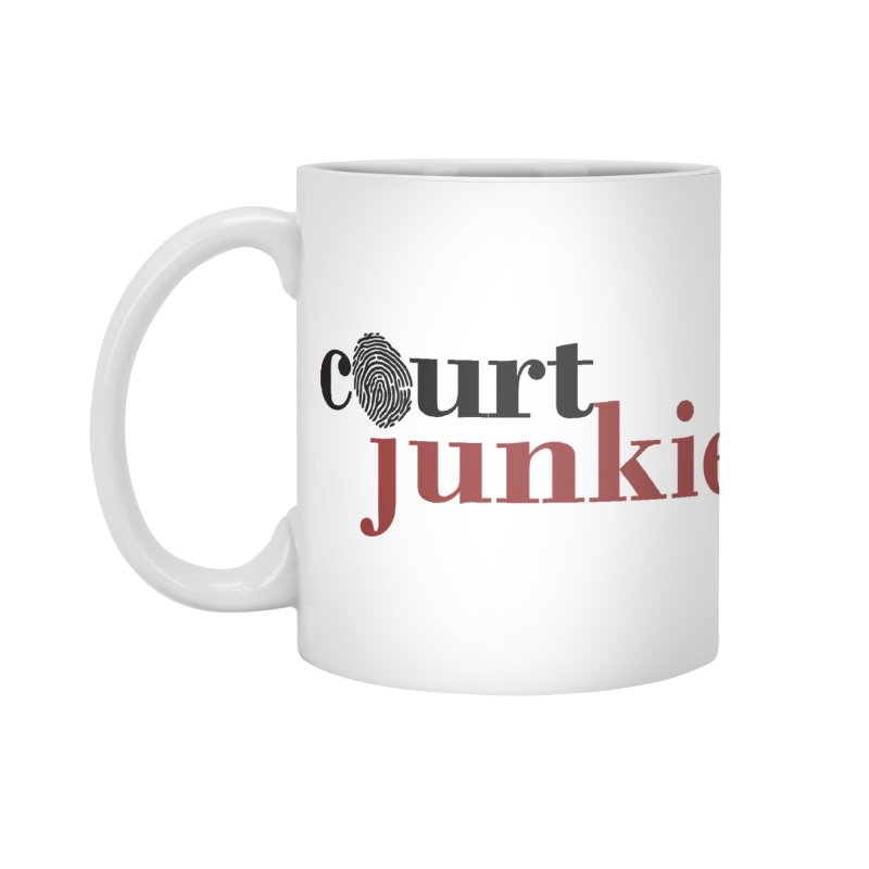 Logo on White in Standard Mug White by Court Junkie Store