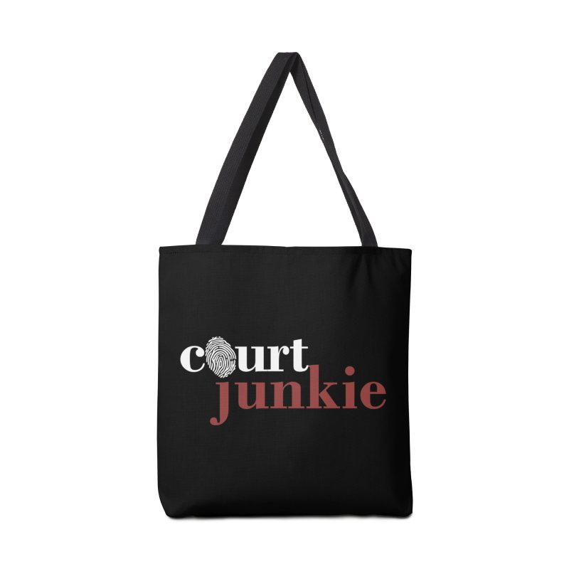 Logo on Black Accessories Bag by Court Junkie Store