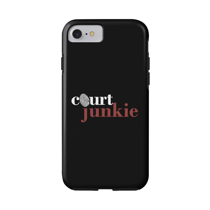 Logo on Black Accessories Phone Case by Court Junkie Store