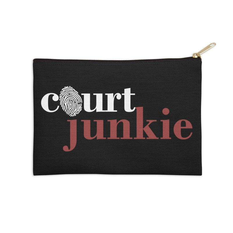 Logo on Black Accessories Zip Pouch by Court Junkie Store