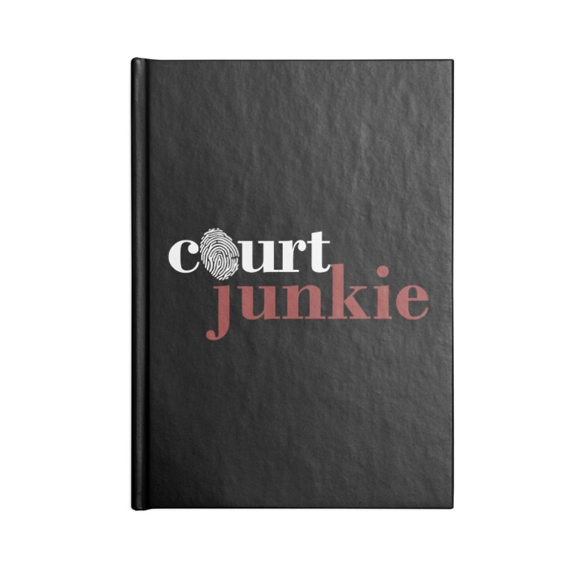 Logo on Black Accessories Blank Journal Notebook by Court Junkie Store