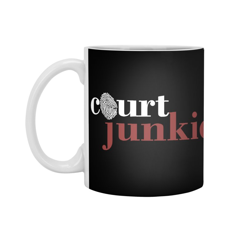 Logo on Black Accessories Standard Mug by Court Junkie Store