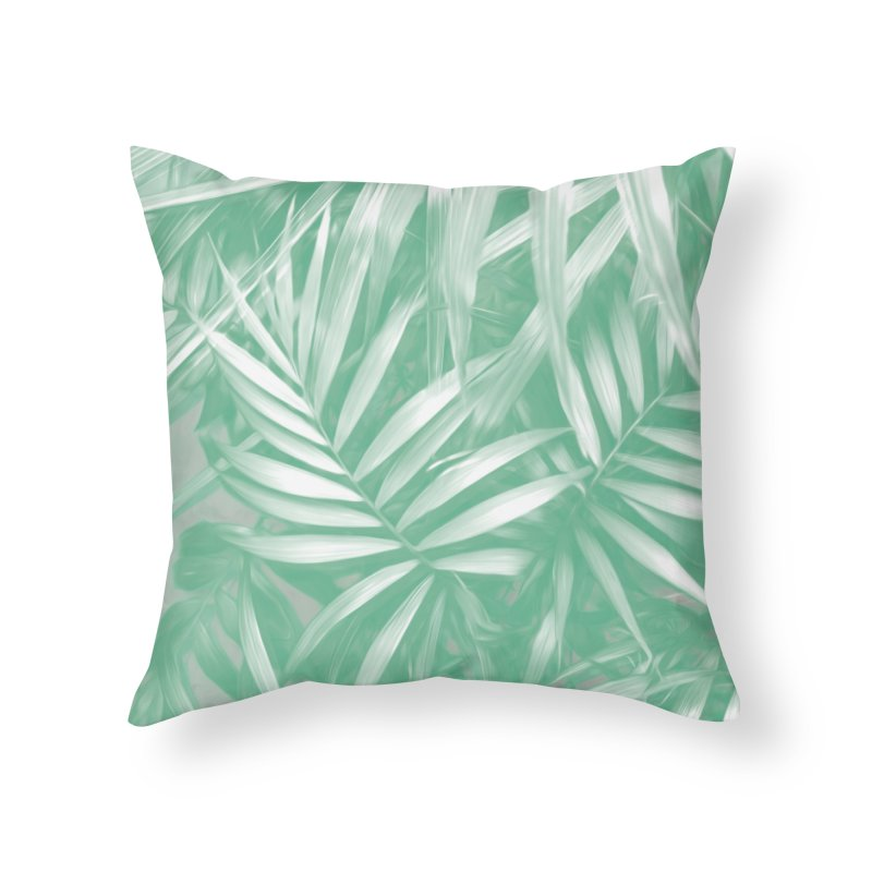 Tropical Sundae in Neo Mint Home Throw Pillow by covereaux's Artist Shop