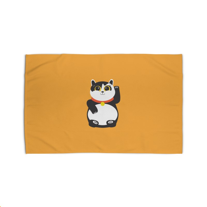 Lucky Panda Cat Home Rug by covereaux's Artist Shop