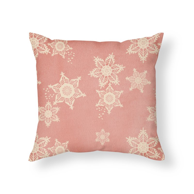 Boho Christmas Home Throw Pillow by covereaux's Artist Shop