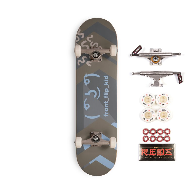 Custom Lenny Face Deck in Blue Accessories Skateboard by covereaux's Artist Shop