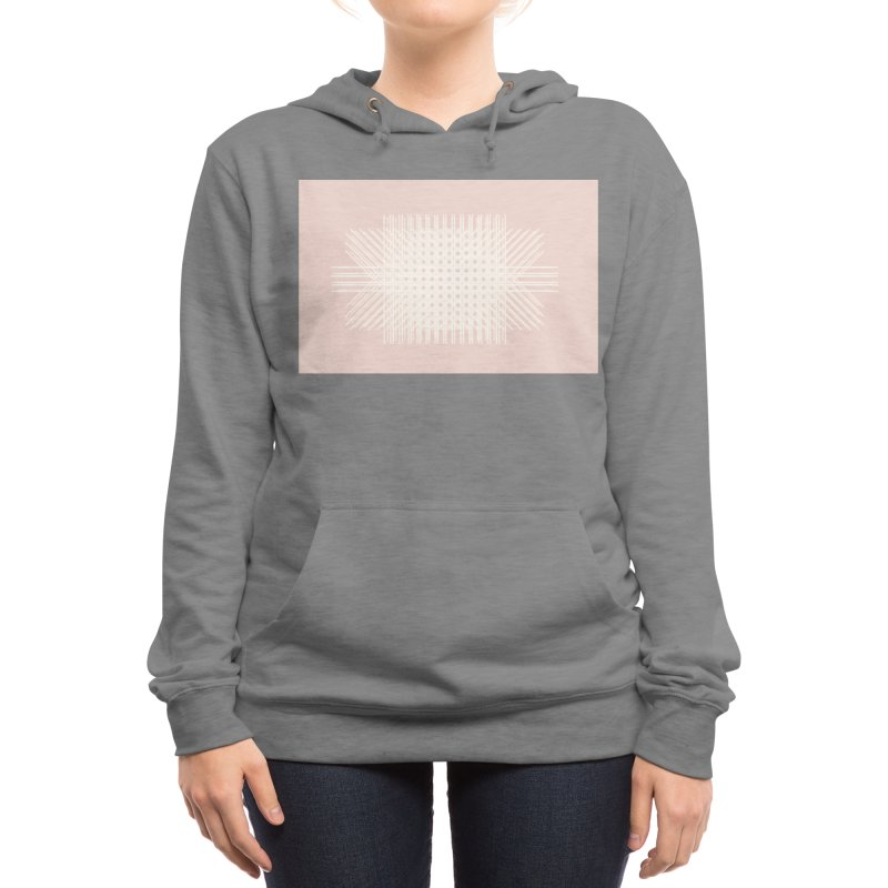 Pink Rattan Women's Pullover Hoody by covereaux's Artist Shop