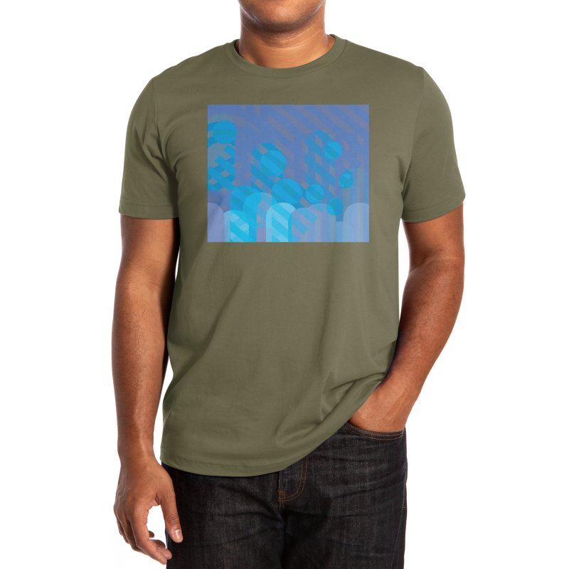 Vivid Dreams in Peacock Men's T-Shirt by covereaux's Artist Shop