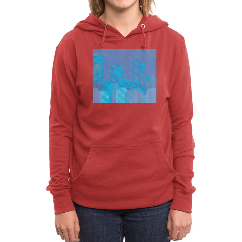 Vivid Dreams in Peacock Women's Pullover Hoody by Covereaux's Skate Shop
