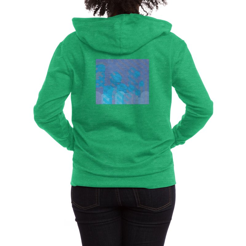 Vivid Dreams in Peacock Women's Zip-Up Hoody by covereaux's Artist Shop