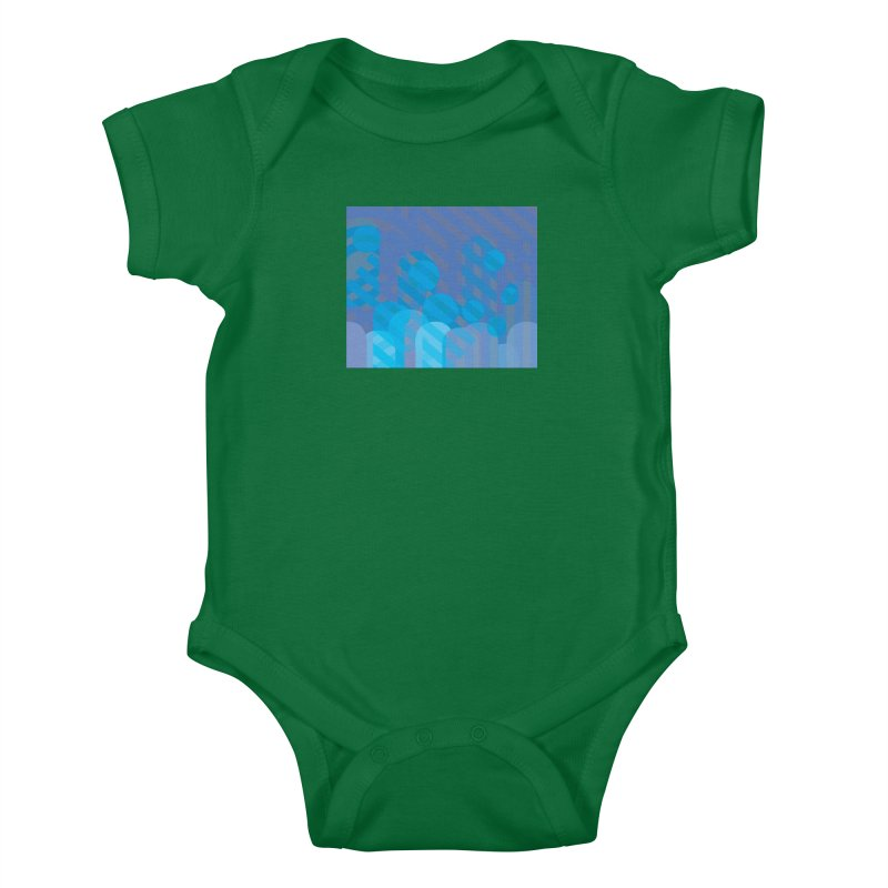 Vivid Dreams in Peacock Kids Baby Bodysuit by covereaux's Artist Shop