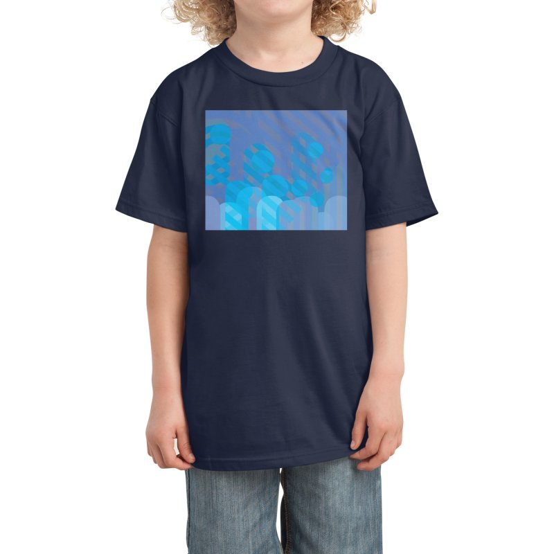Vivid Dreams in Peacock Kids T-Shirt by Covereaux's Skate Shop