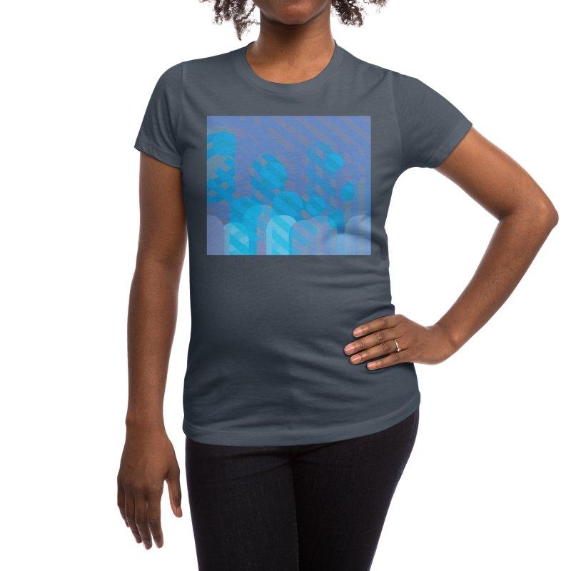 Vivid Dreams in Peacock Women's T-Shirt by covereaux's Artist Shop