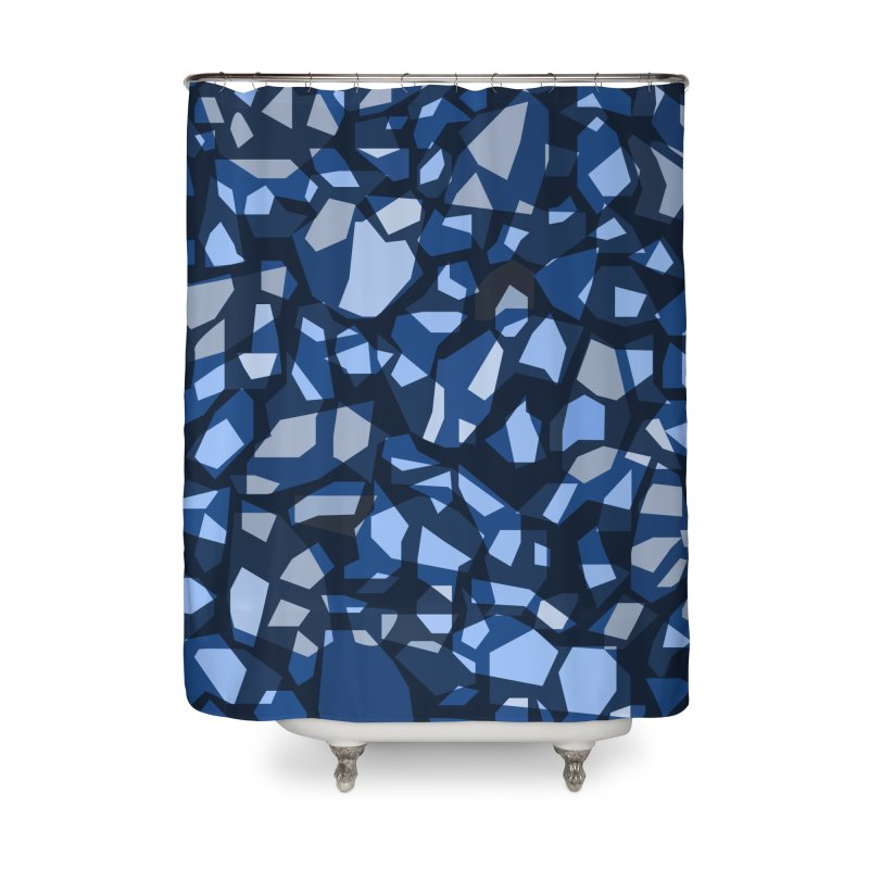 Terrazzo Blues Home Shower Curtain by covereaux's Artist Shop