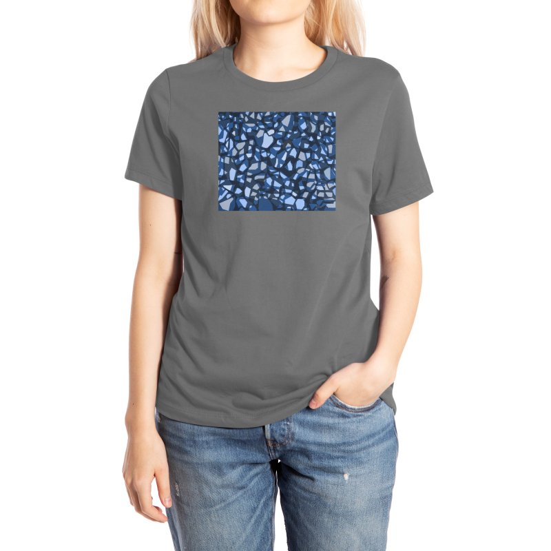 Terrazzo Blues Women's T-Shirt by covereaux's Artist Shop