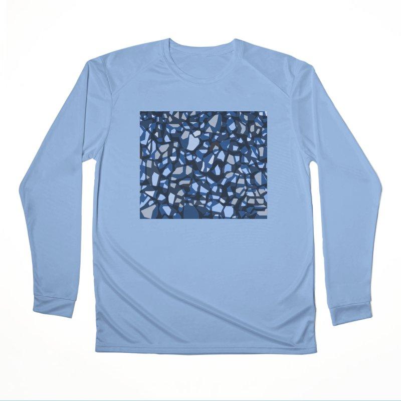 Terrazzo Blues Men's Longsleeve T-Shirt by covereaux's Artist Shop