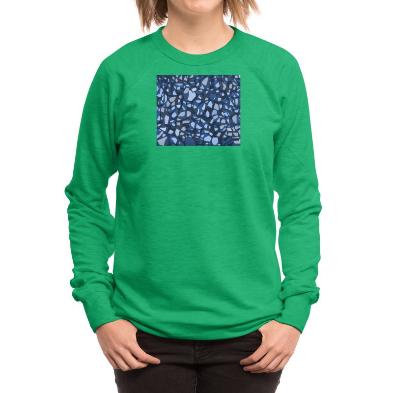 Terrazzo Blues Women's Sweatshirt by Covereaux's Skate Shop